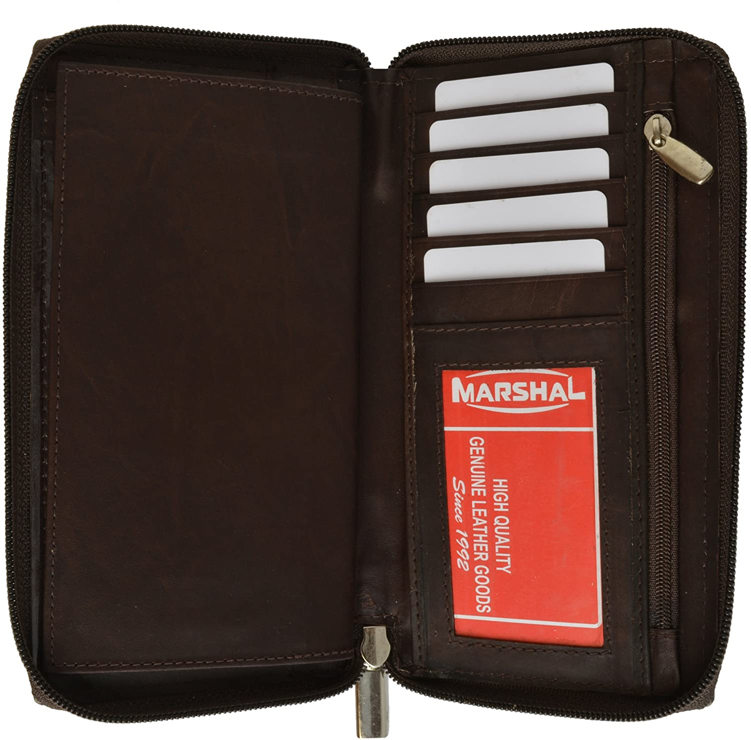 Marshal Checkbook 70% OFF Outlet Holder Wallet with Around Ranking TOP15 Pull and Zipper All
