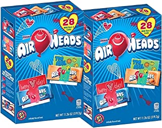 Airheads Air Head Valentines Day Mini Bars with School Classroom Exchange Cards 56 total (2 pks of 28)