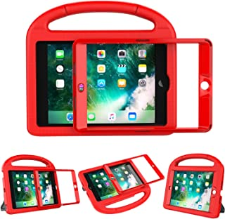 LEDNICEKER Kids Case Built-in Screen for iPad Mini 1 2 3 - Light Weight Shock Proof Handle Kidproof Friendly Convertible Stand Child Case for iPad Mini 1st 2nd 3rd Generation - Red