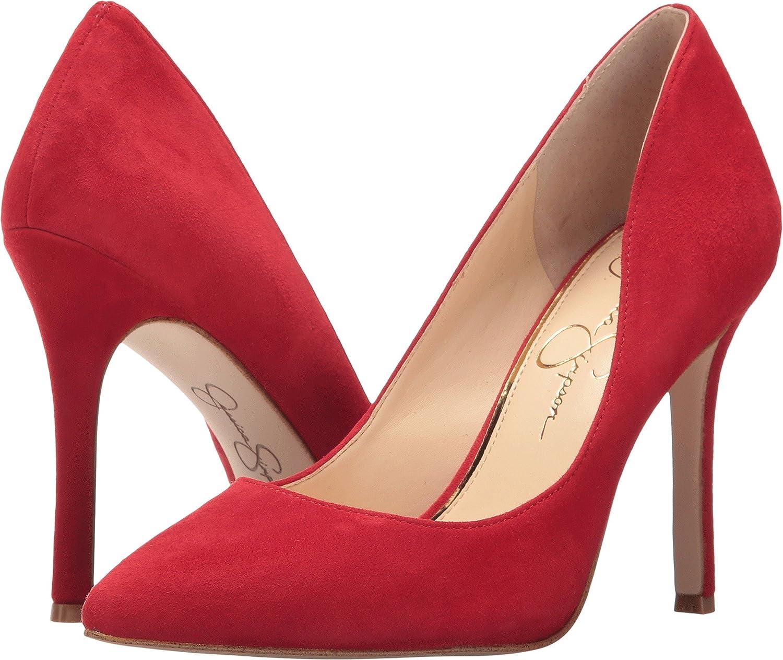 Jessica Simpson Womens Blayke Suede Pointed Toe Dress Heels