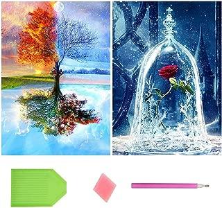 4 seasons tree painting
