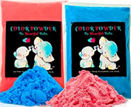 Baby Gender Reveal Party Supplies - 2lb Pink and 2 lb Blue Color Powder Bag - FREE BONUS EBOOK - Girl or Boy Announcement ...