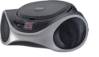 LEDVANCE Sylvania SRCD1063BT-GRAPHITE Bluetooth Portable CD Radio Boom Box, Graphite