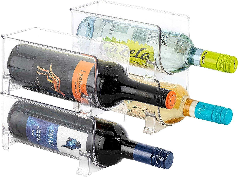 JINAMART Set of 4 Stackable Wine OFFicial Rack Storage Counter Sale item Top