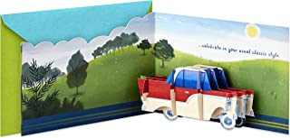 Hallmark Paper Wonder Displayable Pop Up Birthday Card (Classic Car)