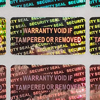 Security Seal Hologram Silver Tamper Evident Warranty Labels Stickers 15 mm x 30 mm- Dealimax Brand (Silver) (100)