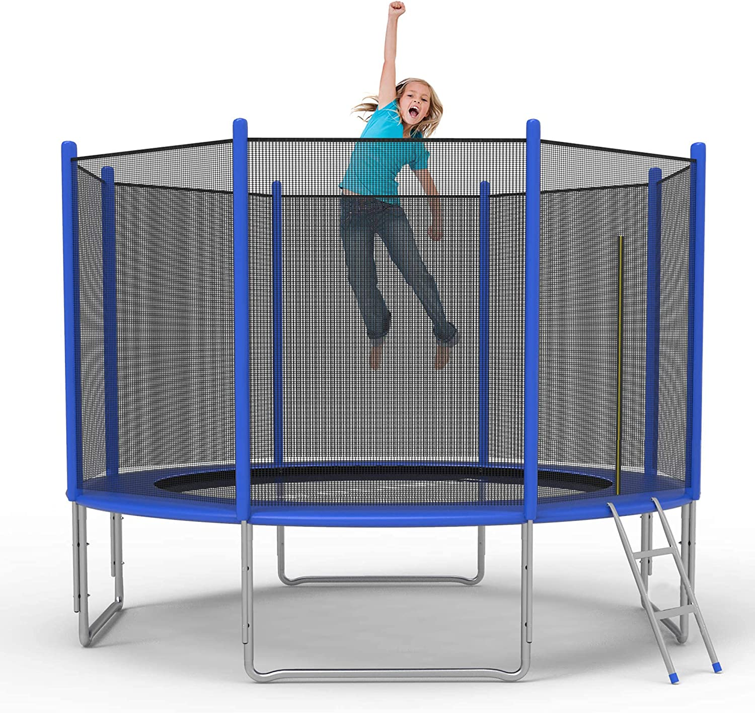 Koreyosh 10FT 12FT Trampoline with Ladd and Net Cheap Online limited product Safety Enclosure