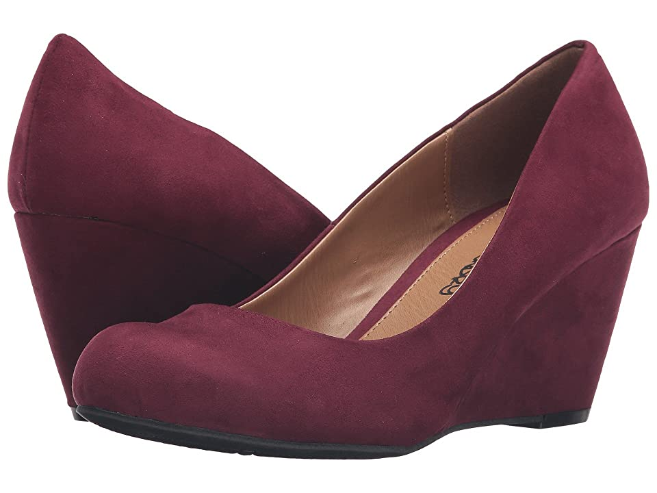 Dirty Laundry DL Not Me Wedge Pump (Merlot) Women