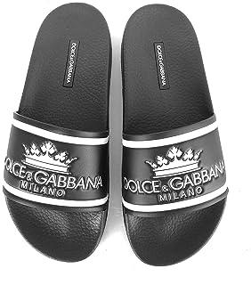 640a0d2bf9 Dolce & Gabbana - Sandalias de Goma para Hombre CS1630 AU679 HNR18, Color  Negro