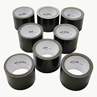 FindTape DUCT-TEST-PACK Duct Tape Test Pack: 3 in x 30 ft. (Black) / 8 rolls [8 rolls/pack]