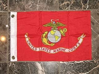 Flag 12X18 Double Sided USMC Marine Marines 2Ply Nylon 12