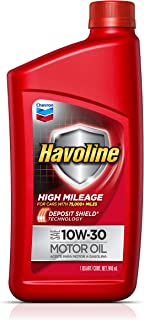 HAVOLINE 10W30 High Mileage with Deposit Shield Technology, 1 Quart, 1 Pack