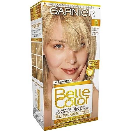 Garnier Belle Color Coloración de aspecto natural y cobertura completa de canas con aceite de jojoba y germen de trigo - Tono: Rubio Muy Claro 9