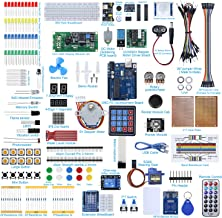AGOAL UNO R3 Development Board Project Starter Kit Compatible with Arduino with Tutorial, Electronics Component Kit Included Breadboard, DHT 11 Temperature-Humidity Sensor 1-Pack