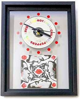 RED HOT CHILI PEPPERS - Blood Sugar Sex Magik: FRAMED CD WALL CLOCK/With Cover Art
