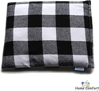 Microwaveable Heating Pad (Black Plaid)