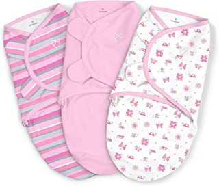SwaddleMe Original Swaddle,Girly Bug Small (0-3 Months), Pack of 3