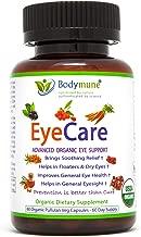 Natural Eye Care Supplement | Eye Floaters | Dry Eyes | Eyesight Eye Health Nutrition | Organic Synergistic Blend by Bodymune | 60 Day Supply | Maqui Carrot Goji Schisandra | Vegan Gluten-Free