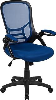 Flash Furniture High Back Blue Mesh Ergonomic Swivel...