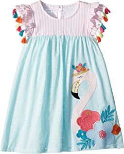 Mud Pie Flamingo Tassel Dress (Toddler)