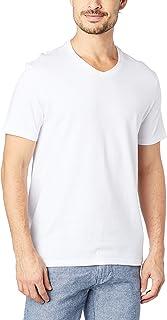 Camiseta Manga Curta Gola V, Hering, Masculino