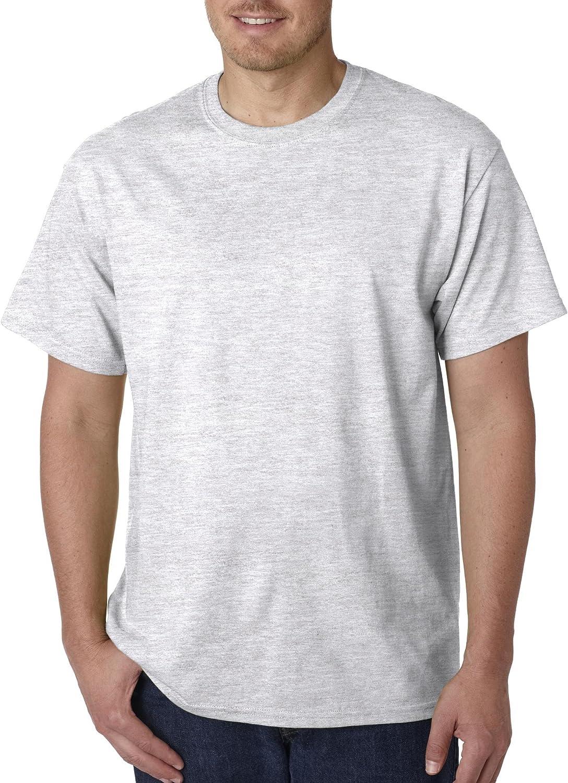 Gildan Men's G500 5.3 Max 71% OFF oz. T-Shirt Grey List price Ash 2X