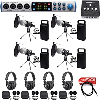 Presonus 4-Person Podcast Podcasting Kit 1810 Interface+Mics+Stands+Pop filters