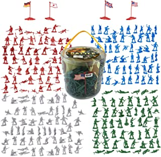 Liberty Imports Army Men Military Action Figures Bucket Playset - World War II Toy Soldiers Combat Special Forces (Soldiers Only)