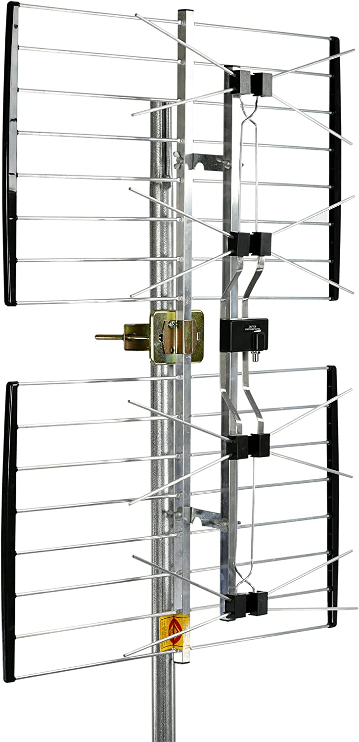 Channel Master ULTRAtenna Outdoor TV Antenna Multi-Directional 180° Reception for Roof, Attic, Eave, Chimney, Wall or Balcony - 60+ Mile Range - CM-4221HD