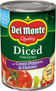 Del Monte Diced Tomatoes with Green Peppers & Onions, 14.5-Ounce (Pack of 12)