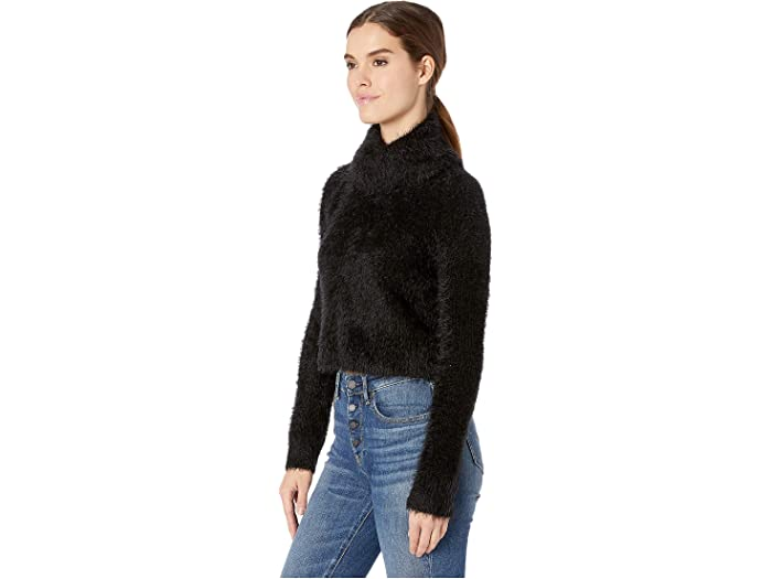 Jack Womens Bat Your Lashes Rib Stitched Eyelash Sweater
