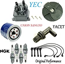 Tune Up Kit Filters Cap Rotor Wires & NGK Plugs for Honda Accord L4; 2.3L 1998-2002