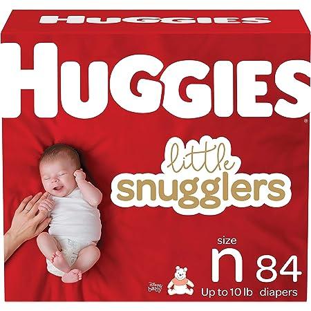 Huggies Little Snugglers Baby Diapers, Size Newborn, 84 Ct
