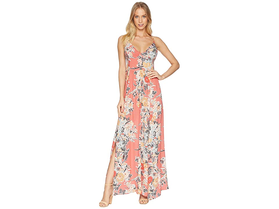 Free People Through The Vine Printed Maxi (Red Combo) Women
