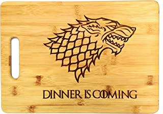Dinner is Coming Cutting Board, 13 3/4