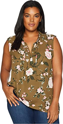 Plus Size Simi Tie Neck Blouse