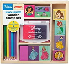 Melissa & Doug Wooden Stamp Set Disney Princesses (Arts & Crafts, Sturdy Wooden Storage Box, Washable Ink, 17 Pieces, Great Gift for Girls and Boys - Best for 4, 5, 6 Year Olds and Up)