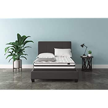 Ashley Chime 8 Inch Firm Hybrid Mattress - CertiPUR-US Certified Foam, Full