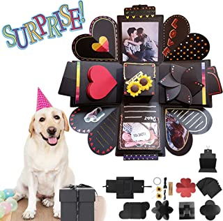 Iespandi 3D DIY Creative Explosion Gift Box Set with Lids; Love Memory Photo Scrapbook Paper Kit; Surprise Handmade Gifts Decorative Boxes for Birthday, Wedding, Jewelry, Boyfriend, Anniversary