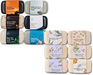 O Naturals Deluxe Variety 2 Pack, 12 Unique Different Bars of Soap. Best Holiday Gift Set for Women & Men. Premium Skin Care Spa Bath & Body Gift Set Kit. Vegan Soap with Organic Ingredients. 4oz Each