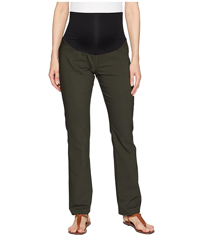Liverpool Maternity Harper Bootcut Trousers in Clean Weave Fabric in Peat Green (Peat Green) Women's Jeans