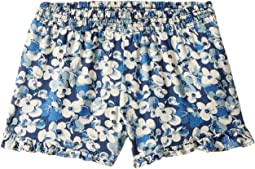 Floral Ruffled Challis Shorts (Little Kids)