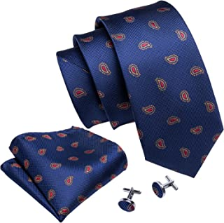 2355ee0170ce Wang Ties for Men Designer Hanky Cufflinks Necktie Set WOVEN