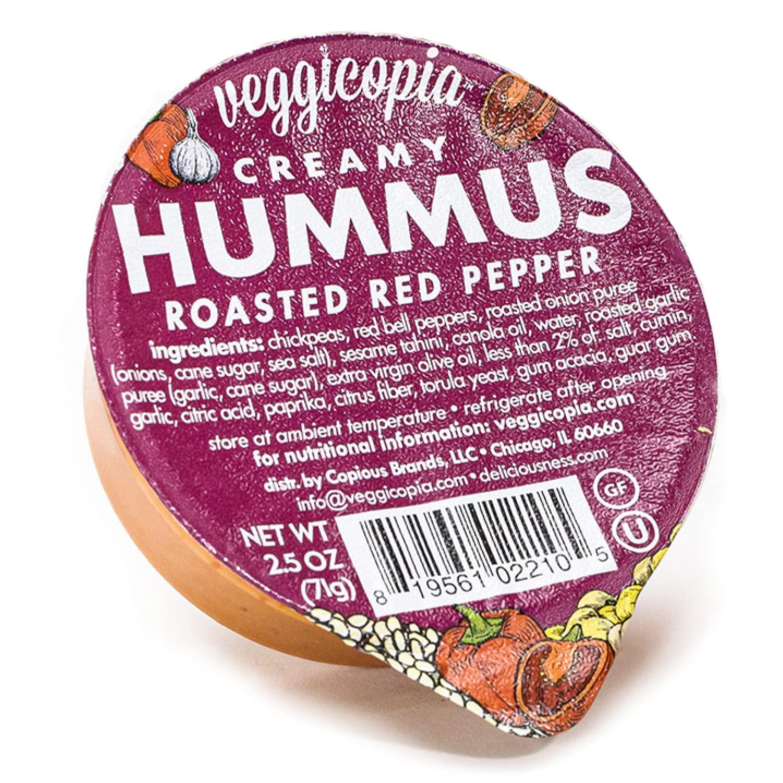 Veggicopia Translated Creamy Roasted Red Pepper o Hummus Satisfying taste Lowest price challenge