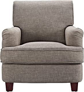 Dorel Living Rolled Top Club Chair Nailheads, Gray