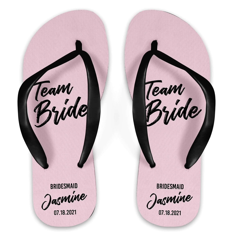 Team Bride Bridesmaid Personalized El Paso Mall Flops Ranking TOP19 Flip