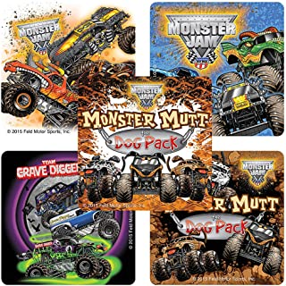 Monster Jam Truck Trios Stickers - Prizes 100 Per Pack