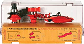Freud 3 Piece Premier Adjustable Cabinet Bit Set (97-254)