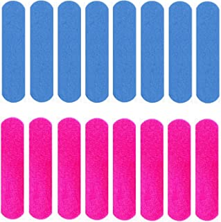 Transun Moo Mini Nail Files Bulk, 100 Pack 2 Inches Disposable Double Sided Emery Boards Manicure Pedicure Tools