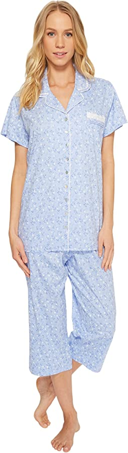 Eileen West - Notch Collar Capris PJ Set